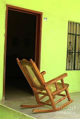 El Quelite Rocking Chair Mexico Art Print