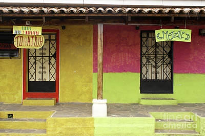 Photograph - El Salvador Colorful Storefronts In Ataco  by John  Mitchell