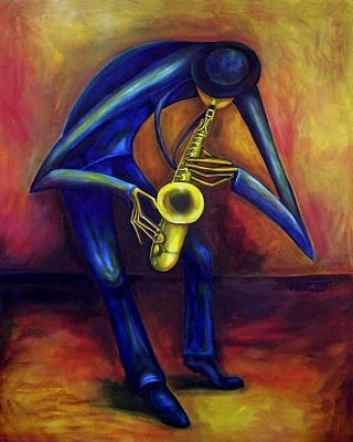 Painting - El Saxofonista by Virginia Palomeque