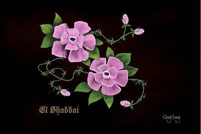 El Shaddai         The Almighty Art Print by Greg Long