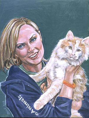 Painting - Elaine Hendrix by Bryan Bustard