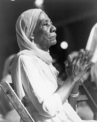 Elderly African American Woman Art Print by Everett