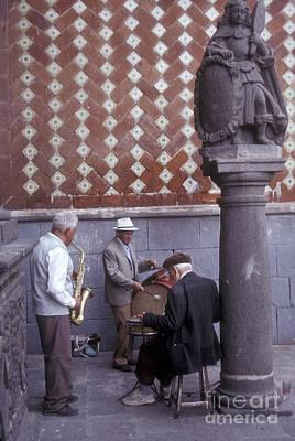 Photograph - Elderly Jazz Trio Puebla Mexico by John  Mitchell