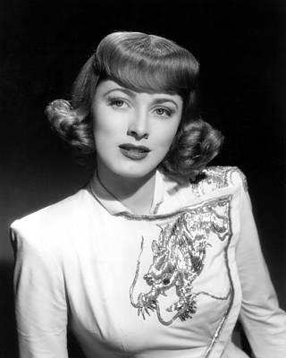 Eleanor Parker Wearing An Embroidered Art Print