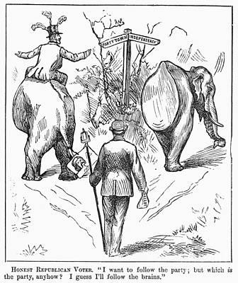 Photograph - Election Cartoon, 1884 by Granger