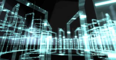 Mindscape Digital Art - Electric Avenue by Nick Pearce