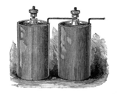 Electric Batteries, 19th Century Art Print by