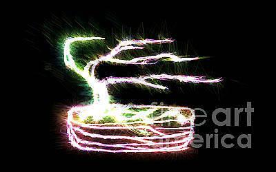 Photograph - Electric Bonsai by EGiclee Digital Prints