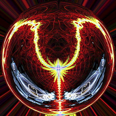 Digital Artwork Digital Art - Electric Charged Sphere by Twilight Vision