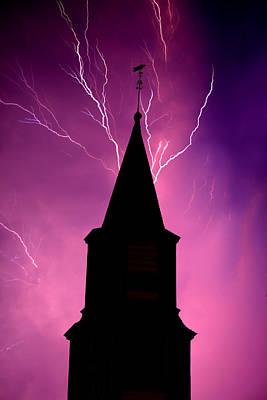 Electric Church Art Print by Tim Scullion