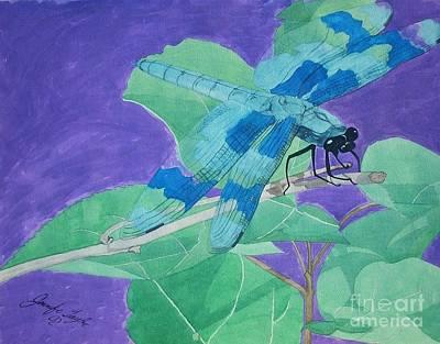 Electric Dragon Art Print by Jennifer Taylor Rogerson