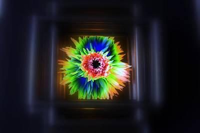 Electric Flower Art Print by Marcia Lee Jones