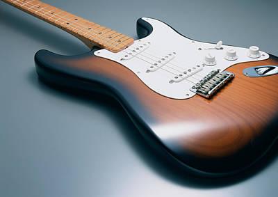 Rock Music Art Photograph - Electric Guitar by Datacraft Co Ltd