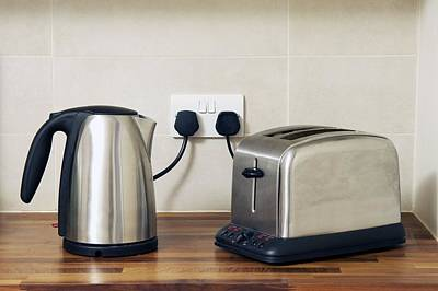 Electric Kettle And Toaster Art Print by Johnny Greig