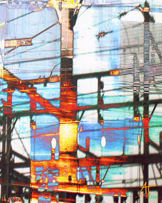 Photograph - Electric Landscape by Ann Tracy