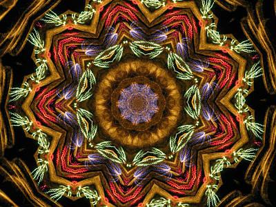 Digital Art - Electric Mandala 2 by Rhonda Barrett