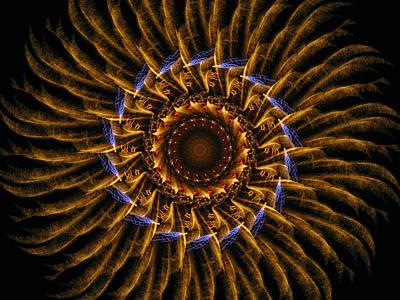 Digital Art - Electric Mandala 3 by Rhonda Barrett
