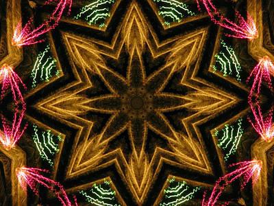 Digital Art - Electric Mandala 7 by Rhonda Barrett