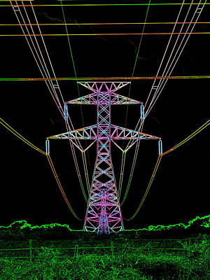 Digital Art - Electric Night IIi by James Granberry