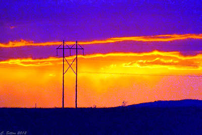 Photograph - Electric Sky by C Sitton