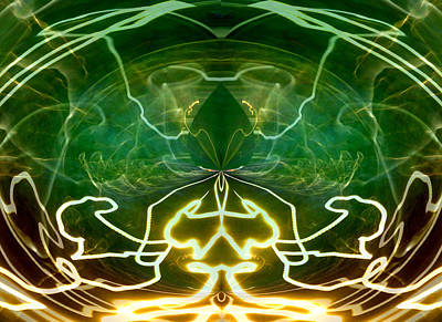 Art Print featuring the digital art Electric Storm by Ginny Schmidt