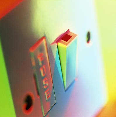 Fused Photograph - Electric Switch by Tek Image