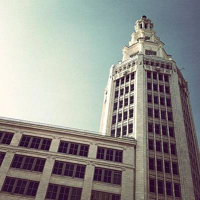 Angle Photograph - Electric #tower.  #downtown #buffalo by Jenna Luehrsen
