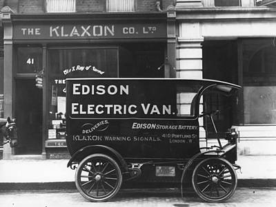 Electric Van Art Print by Hulton Collection