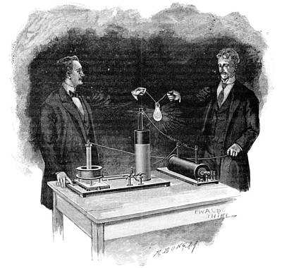 Electrical Experiment, Early 20th Century Art Print by