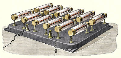 Electrical Resistance Photograph - Electrical Heater, 1900 by Sheila Terry