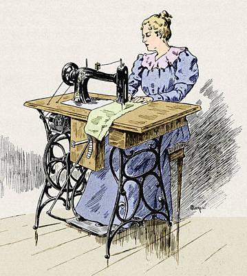 Electrical Sewing Machine, 1900 Art Print