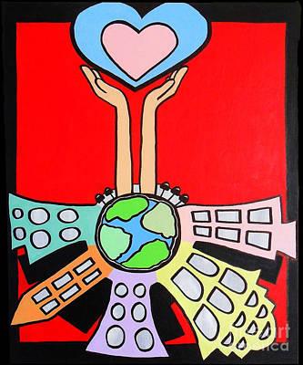 Electricityscape Pop Love  Art Print