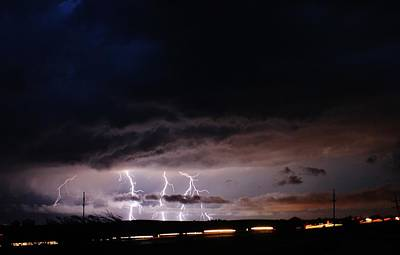 Lightning Photograph - Electrifying  by Bradley Hruza
