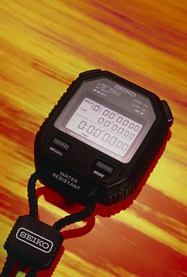 Electronic Stopwatch Art Print by David Parker
