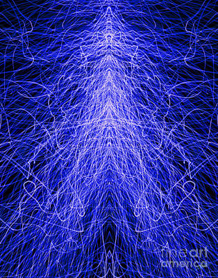 Photograph - Electrostatic Blue by Peter Piatt