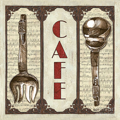 Cafe Wall Art - Painting - Elegant Bistro 2 by Debbie DeWitt