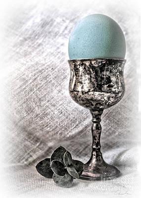 Photograph - Elegant Blue Easter  by Danuta Bennett