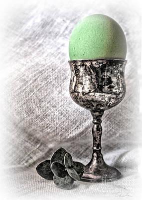 Photograph - Elegant Green Easter  by Danuta Bennett