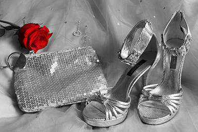Elegant Night Out In Selective Color Art Print