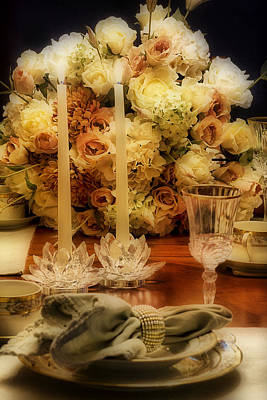 Photograph - Elegant Tablesetting by Trudy Wilkerson