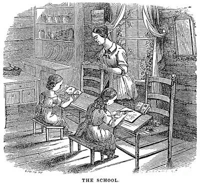 Elementary School, 1840 Art Print by Granger