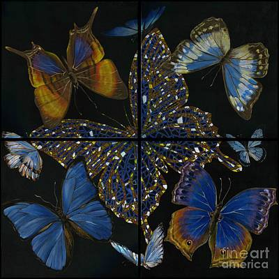 Art Print featuring the painting Elena Yakubovich Butterfly 2x2 by Elena Yakubovich