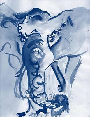 Drawing - Elephant by Carol Rashawnna Williams