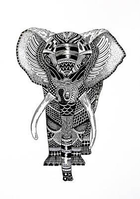 Elephant Art Print by JF Mondello