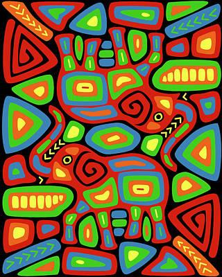 Elephant Mola Art Print
