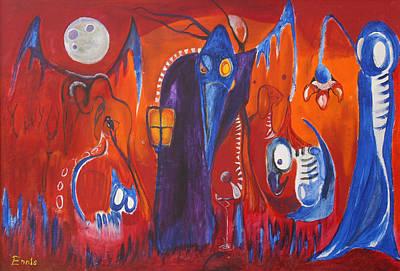 Painting - Elephant's Graveyard by Christophe Ennis