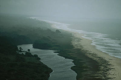 Gabon Photograph - Elevated View Of Fog-shrouded Atlantic by Michael Nichols