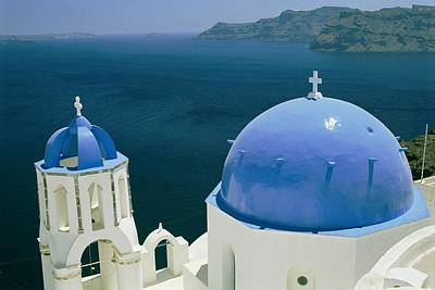 Slavic Photograph - Elevated View Of The Aegean Sea by Todd Gipstein