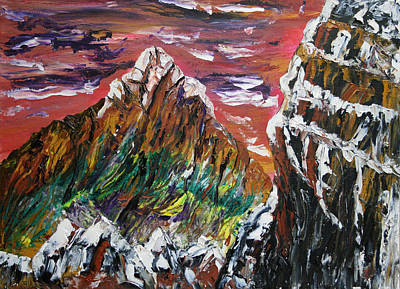 Rockies Painting - Elevation by James Bryron Love