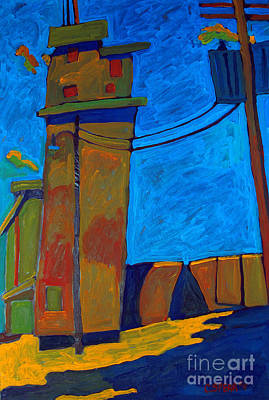 Fauvist Landscape Painting - Elevator by Charlie Spear